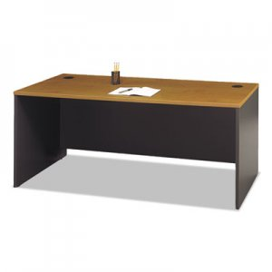 Bush Series C Collection 72W Desk Shell, Natural Cherry BSHWC72436 WC72436