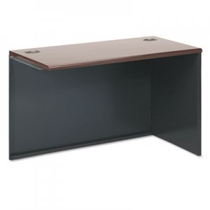 HON 38000 Series Return Shell, Right, 48w x 24d x 29-1/2h, Mahogany/Charcoal HON38943RNS H38943R.N.S