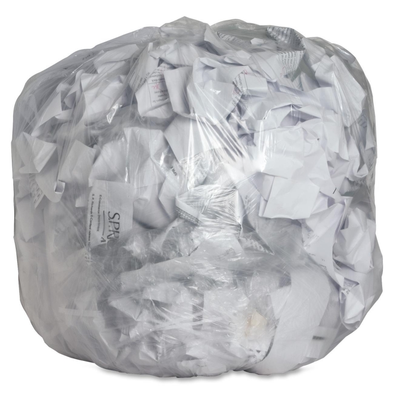 Genuine Joe Clear Trash Can Liners 01013 GJO01013