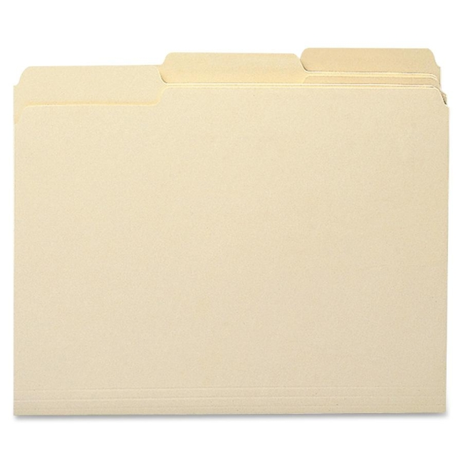Sparco 1/3 Cut Recycled Manila File Folders SP11113 SPRSP11113