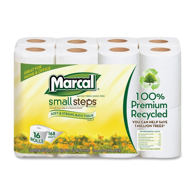 Marcal Small Steps Recycled Premium Bath Tissue 16466PK MRC16466PK