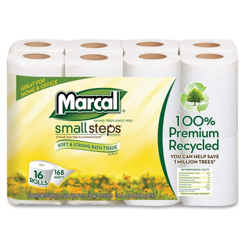 Marcal Small Steps Recycled Premium Bath Tissue 16466CT MRC16466CT