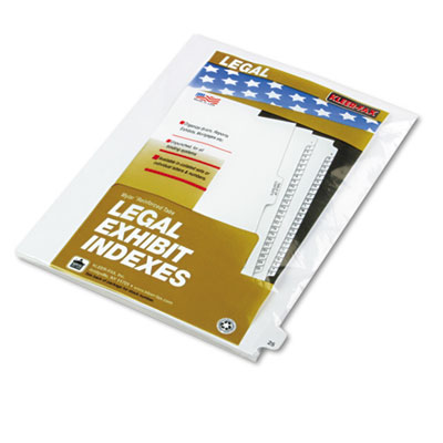 "Kleer-Fax 80000 Series Legal Index Dividers, Side Tab, Printed ""25"", 25/Pack KLF82225 82225"