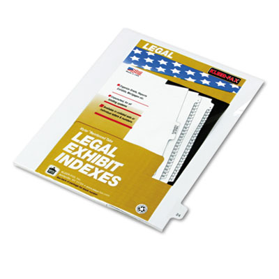 "Kleer-Fax 80000 Series Legal Index Dividers, Side Tab, Printed ""24"", 25/Pack KLF82224 82224"