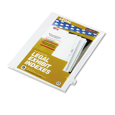 "Kleer-Fax 80000 Series Legal Index Dividers, Side Tab, Printed ""23"", 25/Pack KLF82223 82223"