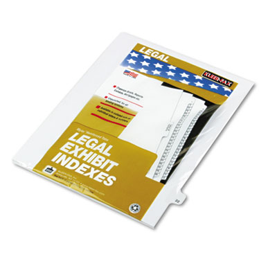 "Kleer-Fax 80000 Series Legal Index Dividers, Side Tab, Printed ""22"", 25/Pack KLF82222 82222"