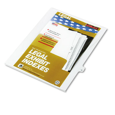 "Kleer-Fax 80000 Series Legal Index Dividers, Side Tab, Printed ""18"", 25/Pack KLF82218 82218"