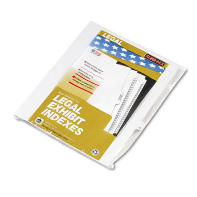 "Kleer-Fax 80000 Series Legal Exhibit Index Dividers, Side Tab, Printed ""16"", 25/Pack KLF82216 82216"
