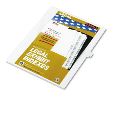 "Kleer-Fax 80000 Series Legal Index Dividers, Side Tab, Printed ""12"", 25/Pack KLF81122 81122"