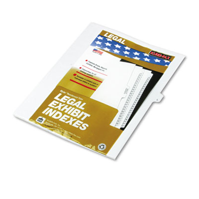 "Kleer-Fax 80000 Series Legal Exhibit Index Dividers, Side Tab, ""L"", White, 25/Pack KLF80012 80012"