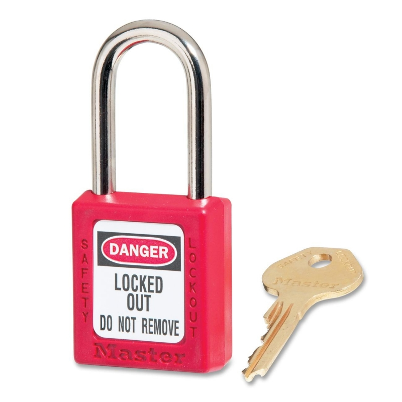 Master Lock Master Lock Safety Keyed Padlock 410RED MLK410RED