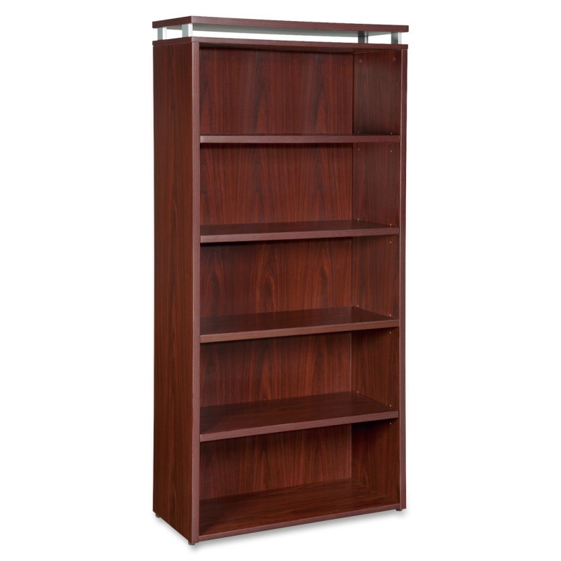 Lorell Five-shelf Bookcase for Ascent and Concordia Series 68722 LLR68722