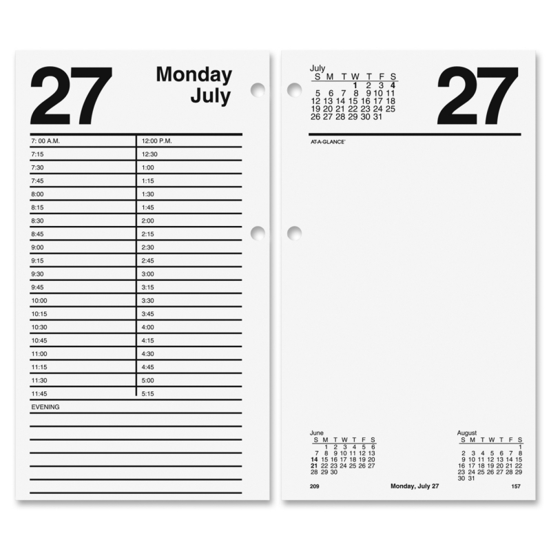 At-A-Glance At-A-Glance Large Daily Desk Calendar Refill E210-50 AAGE21050