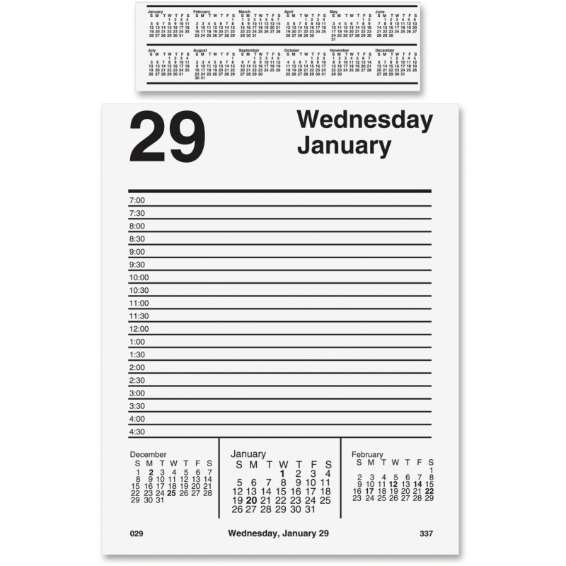 At-A-Glance At-A-Glance Pad Base Desk Calendar Refill E458-50 AAGE45850