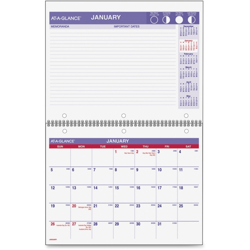 At-A-Glance At-A-Glance Monthly Wirebound Calendar PM170-28 AAGPM17028