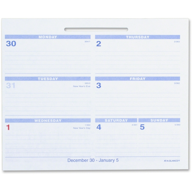 At-A-Glance At-A-Glance Flip-A-Week Desk Calendar Refill SW705X-50 AAGSW705X50