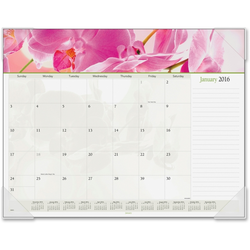 At-A-Glance At-A-Glance Panoramic Floral Desk Pad Calendar 89805 AAG89805