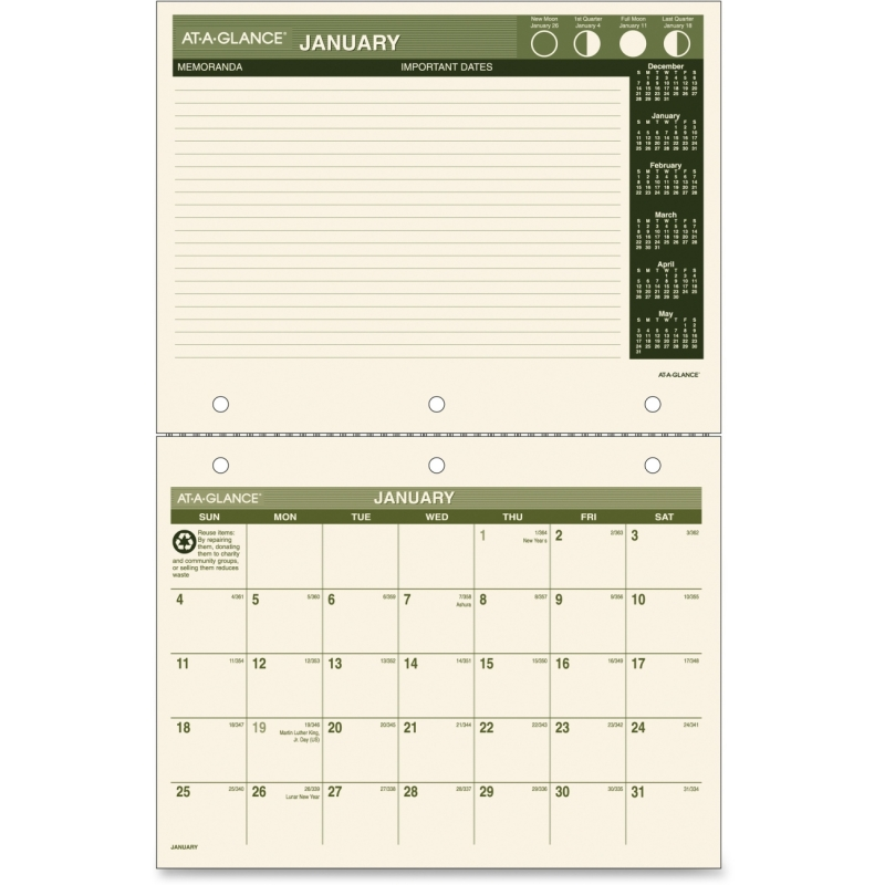 At-A-Glance At-A-Glance Monthly Calendar PM170G-28 AAGPM170G28