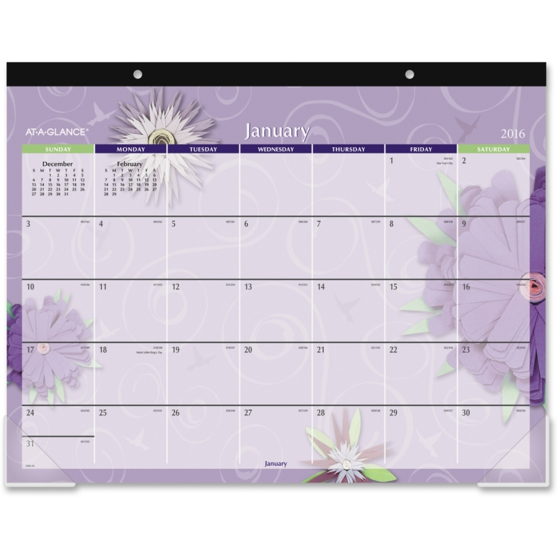 At-A-Glance At-A-Glance Flowers Desk Pad Calendar 5035 AAG5035