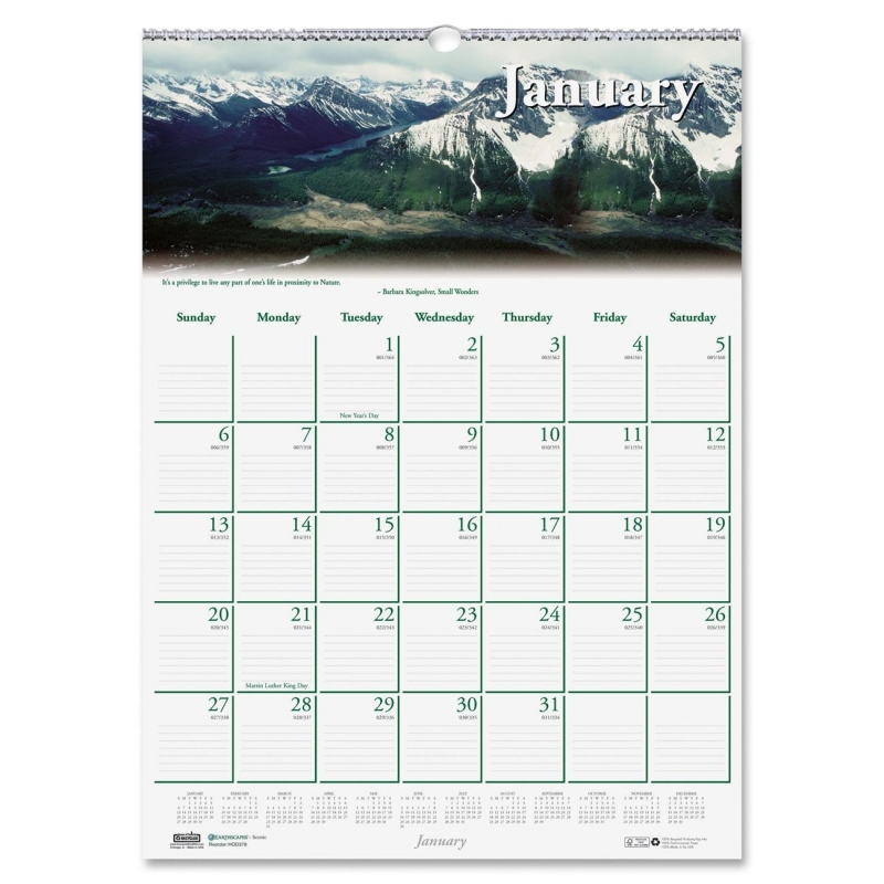 House of Doolittle Earthscapes Nature Wall Calendar 378 HOD378