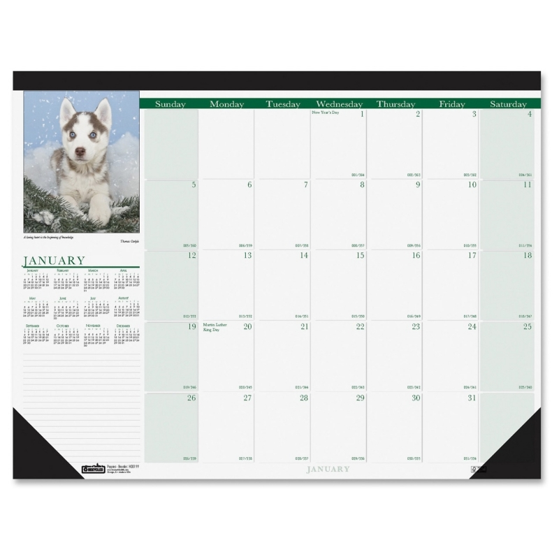 House of Doolittle Puppies Calendar Desk Pad 1996 HOD1996
