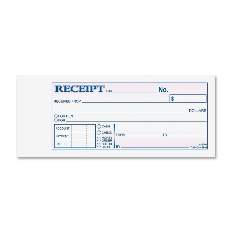 Adams Adams Carbonless Receipt Book TC2701 ABFTC2701