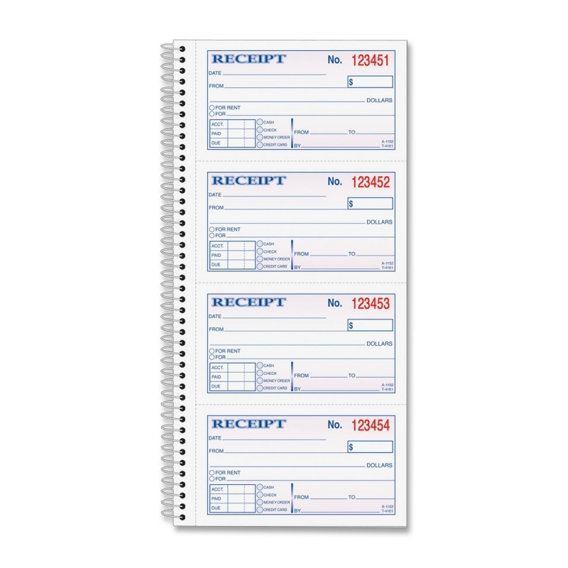 TOPS TOPS Money/Rent Receipt Book 4161 TOP4161