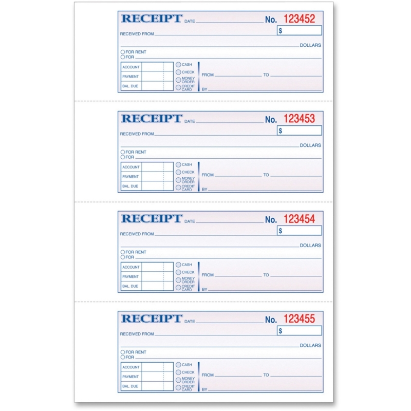 TOPS TOPS Manifold Receipt Book 46806 TOP46806