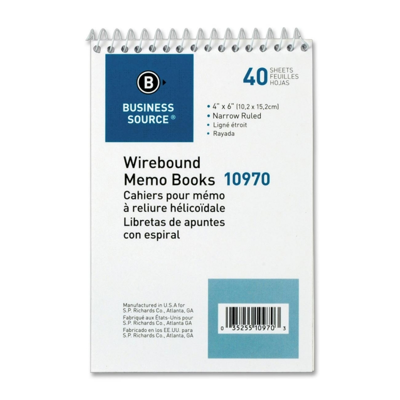 Business Source Memo Book 10970 BSN10970