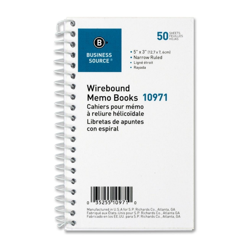 Business Source Ruled Memo Book 10971 BSN10971
