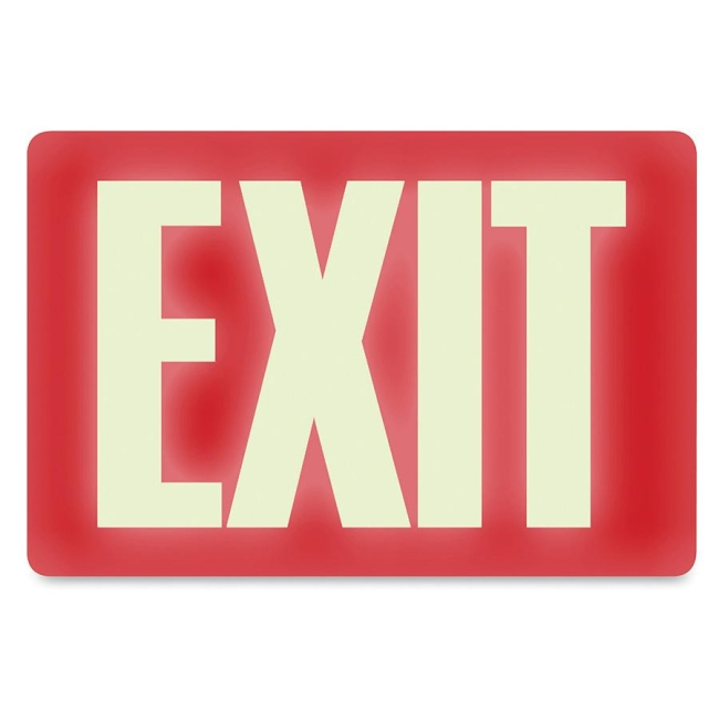 U.S. Stamp & Sign Glow in the Dark EXIT Sign 4792 USS4792