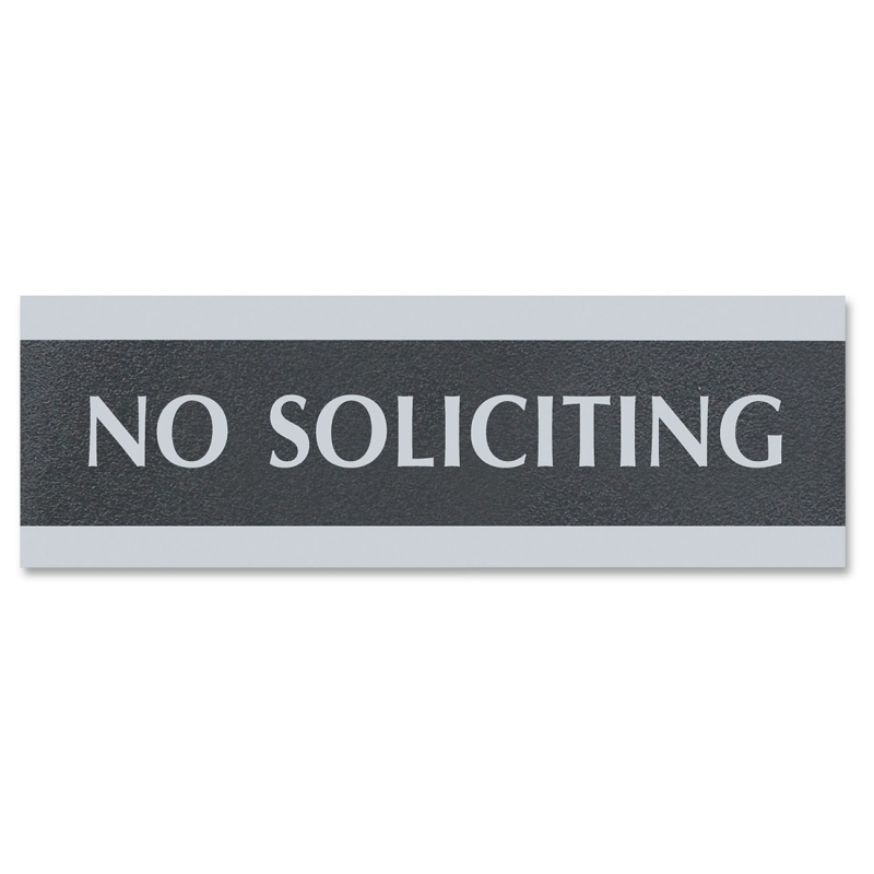 U.S. Stamp & Sign Century No Soliciting Sign 4758 USS4758