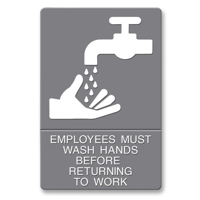 U.S. Stamp & Sign ADA Wash Hands Sign 4726 USS4726