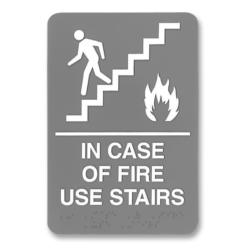 U.S. Stamp & Sign ADA Plastic Fire Use Stairs Sign 5400 USS5400