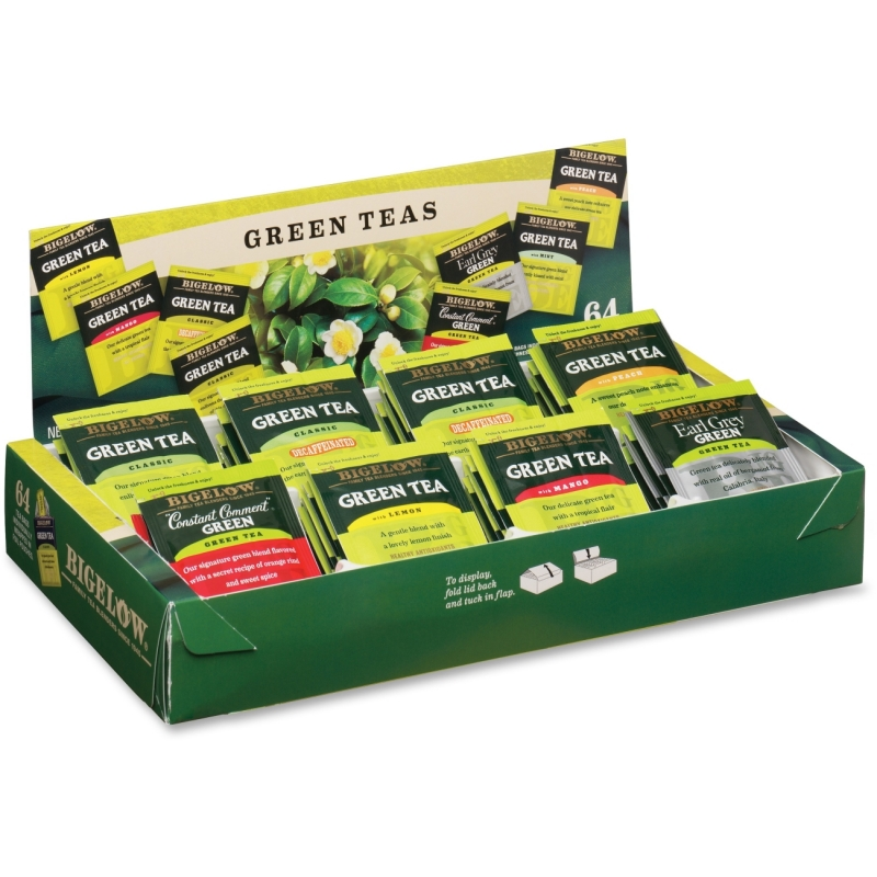 Bigelow Tea Bigelow Tea Assorted Green Tea Tray Pack 30568 BTC30568