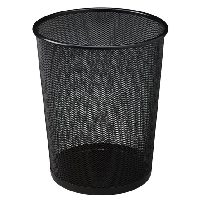 Rubbermaid Commercial Rubbermaid Commercial Round Steel Mesh Wastebasket WMB20BK RCPWMB20BK