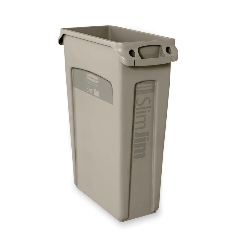 Rubbermaid Rubbermaid 354060 Slim Jim Waste Container with Venting channel 354060BG RCP354060BG 354060