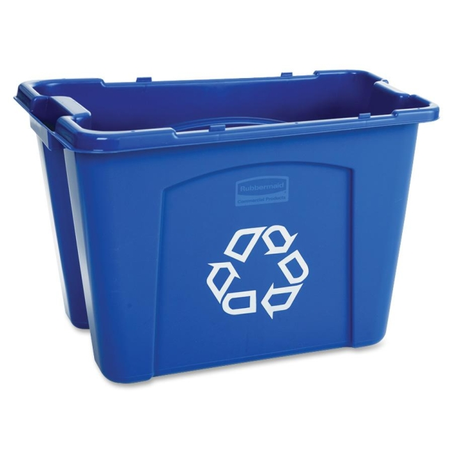 Rubbermaid Rubbermaid Stackable Recycling Box 571473BE RCP571473BE 571473 BLUE