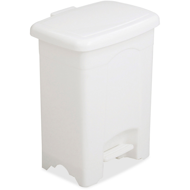 Safco Safco Step-On Plastic Receptacle 9710WH SAF9710WH