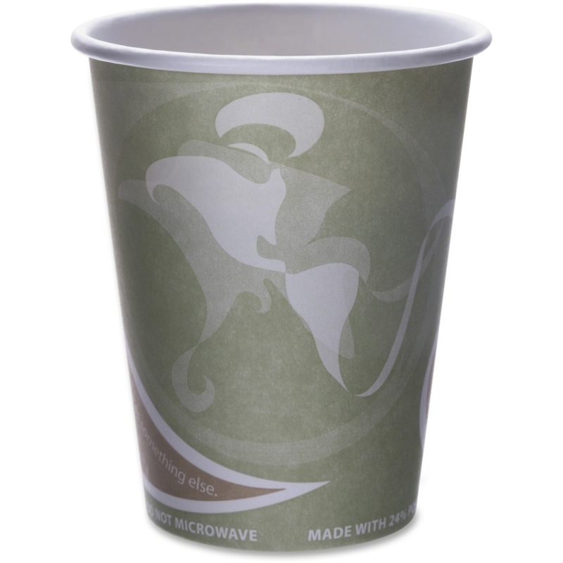 Eco-Products Eco-Products Evolution World PCF Hot Cups EPBRHC12EWPK ECOEPBRHC12EWPK