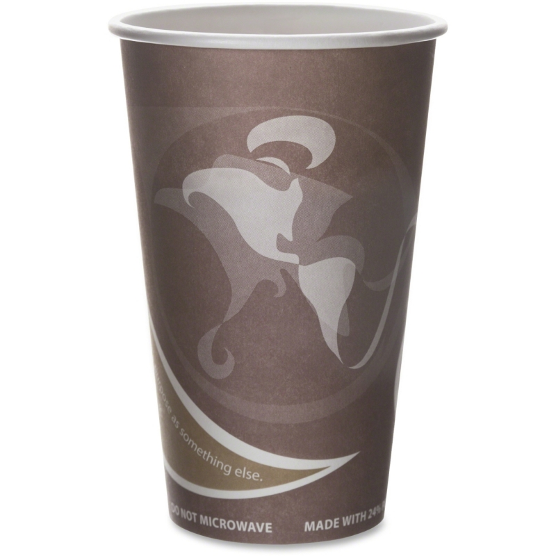Eco-Products Eco-Products Evolution World PCF Hot Cups EPBRHC16EW ECOEPBRHC16EW