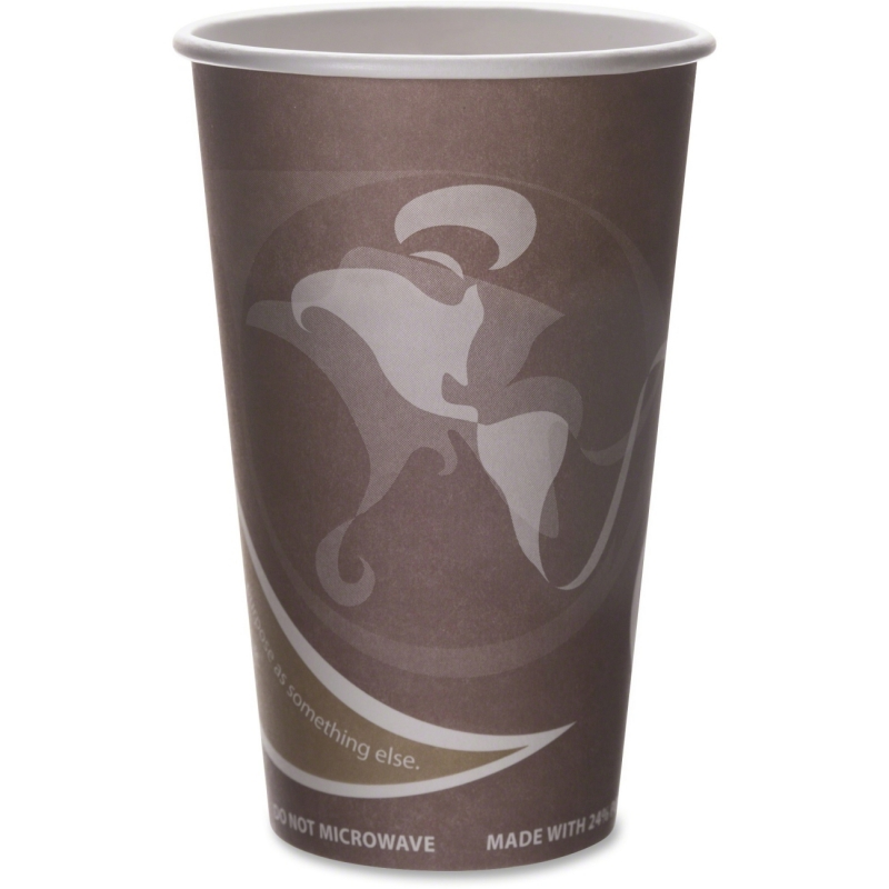 Eco-Products Eco-Products Evolution World PCF Hot Cups EPBRHC16EWPK ECOEPBRHC16EWPK