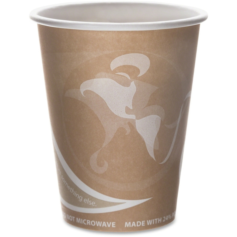 Eco-Products Eco-Products Evolution World PCF Hot Cups EPBRHC8EW ECOEPBRHC8EW