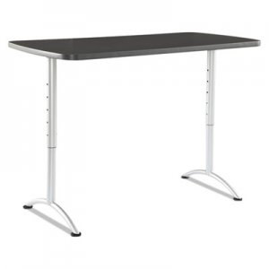 Iceberg ARC Sit-to-Stand Tables, Rectangular Top, 30w x 60d x 30-42h, Graphite/Silver ICE69317 69317