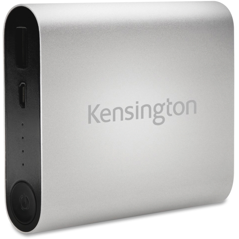 Kensington 10400 USB Mobile Charger-Silver 38219 KMW38219