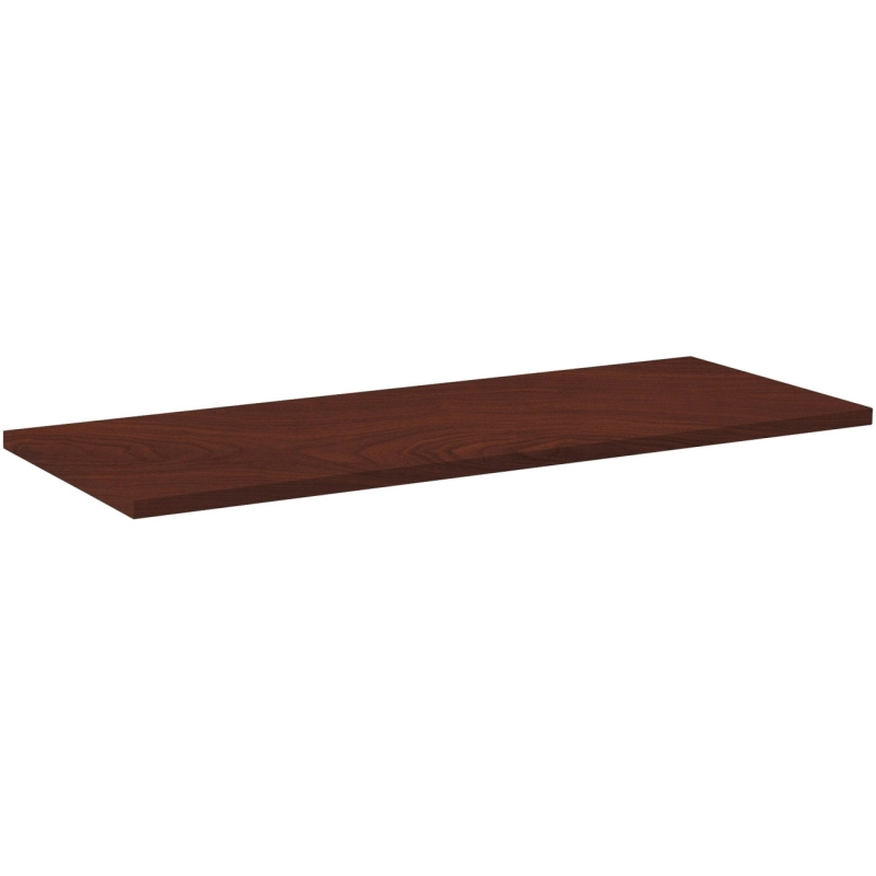 Lorell Rectangular Invent Tabletop - Mahogany 62570 LLR62570