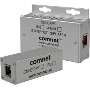 ComNet 1 Channel 10/100 Mbps Ethernet Repeater with 60 W PoE Pass-Through CNFE1RPT