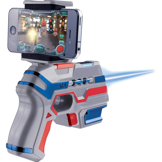 AR Attack ARliens Augmented Reality (AR) Gun - Alien Shooting Play Set for iOS and Android AR-1