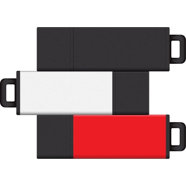 Centon 8GB USB 2.0 Pro2 3Pk (Black, White, Red) S1-U2T10-8G-3