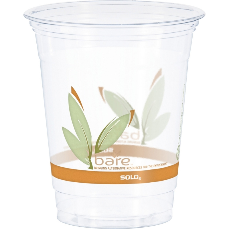 Solo Bare Eco-Forward RPET Clear Cold Cups RTP12BARE SCCRTP12BARE